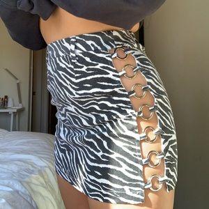 LF Skirts - LF cut out Zebra skirt